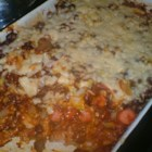 Chili Dog Casserole I - My cousin Donna made up this recipe several years ago and it's one my children love. It's like eating a chili dog, but with a fork.