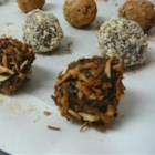 Vegan Truffles - Toasted Coconut - Make homemade vegan truffles made with Medjool dates, almonds, and coconut for a tasty, quick-and-easy treat.