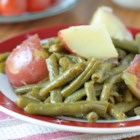 Country Style Green Beans with Red Potatoes - These green beans and potatoes are a spectacular dish.  I have been making them for years in large quantities for special events at my church.  The smoked turkey tails make an excellent broth that is seasoned beyond words.  Let the meat cook until it falls off the bone for the ultimate flavor, at least 2 hours.