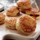 French Onion Soup Puffs - Caramelized onions, thyme, and Gruyere cheese fill golden rounds of puff pastry with the flavours of French onion soup.