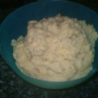Skin-on Savory Mashed Potatoes - This is a version of Mashed Potatoes that my husband actually likes. You can use any type of potatoes and change the amounts of butter, sour cream, and milk to your taste. I like it with russets myself.