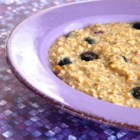 Nutty Blueberry Oatmeal - Mix quick-cooking oats with chia seeds, flax, brown sugar, walnuts, and cinnamon for a homemade instant oatmeal to which you just add blueberries.