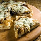Caramelized Onion and Gorgonzola Pizza - Caramelized onions and Gorgonzola cheese are the toppings for this pizza made with refrigerated pizza dough.