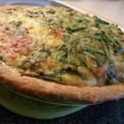 Green Chile Spinach Quiche - You can add other meats or veggies to suite your taste, and this quiche can be baked with or without pie shells.
