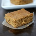 Peanut Butter Blondie Brownies - Peanut butter blondie brownies are the perfect treat to eat warm with a glass of cold vanilla almond milk.