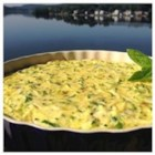 Baked Italian Egg, Zucchini, and Scallion Frittata - This frittata recipe is packed with zucchini and onion for a easy and versatile baked egg dish.