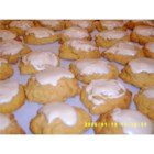 Pumpkin Cookies with Penuche Frosting - A soft cookie with a candy frosting.