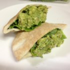 Basil-Avocado Chicken Salad Wraps - These basil-avocado chicken wraps made with lettuce as the wrap are a paleo-friendly lunch that is quick to prepare.