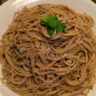 Quick and Easy Spaghetti and Spices - This tasty recipe for spaghetti with spices calls for a simple olive oil dressing instead of the traditional tomato sauce.