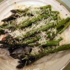Easy Asparagus - Asparagus cooked right in the frying pan, drizzled with an onion-wine glaze and parmesan cheese.