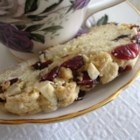 Cranberry Almond Biscotti - I modified a recipe to make this a darker biscotti. For a richer almond flavor, use almond extract instead of the vanilla.