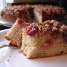 Cranberry Upside-Down Coffee Cake - Cranberries and pecans are baked in the bottom of this cake. Turn the cake over for ooh's and ah's.