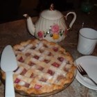 Pineapple Rhubarb Pie - An easy double crust pie made with pineapple and rhubarb.