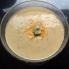 Easy Cheesy Cream of Broccoli Soup - Here's a quick way to whip up a meal! Broccoli, mushroom soup, milk, and American cheese will put you in the fast lane to satisfaction