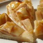 Rustic Autumn Fruit Tart - This delightful, warming tart is full of apples, pears, and spices, baked in a cream cheese pastry.