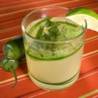 Pepper-Mint Limeade - This homemade limeade puts the 'pepper' in peppermint limeade. Sweet, but with a touch of jalapeno heat that surprises, it's ideal for hot summer days.