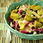 Avocado Slaw - Avocado slaw made with red and green cabbage is a colorful and tasty addition to any sandwich or taco.