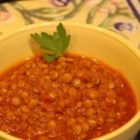 Lentil Chili II - Lentils are cooked in a flavorful chili along with carrots and celery.