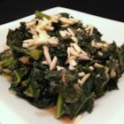 Kale with Caramelized Onions - This kale and caramelized onion dish is quick and easy side to prepare and a great way to use your summer greens.
