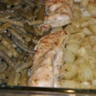 One-Pan Chicken Dinner - This recipe for 1-dish chicken with green beans and potatoes is perfect to make on busy weeknights.