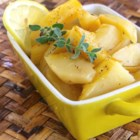 Greek-Style Lemon Roasted Potatoes - This recipe delivers lemon-flavored roasted potatoes to your table, making a great side dish for Greek dishes such as souvlaki.
