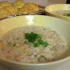 Seafood Chowder - A creamy chowder full of flavor! Of course regular ingredients may be used for those not watching their waistline.
