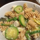 Veggie Chicken Pasta - This recipe is a mixture of pasta and asparagus, mushrooms, zucchini, squash, and onion in a simple, seasonal dish.