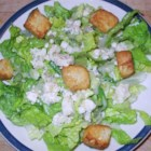 Gorgonzola Salad - A lettuce salad sprinkled with blue cheese and a simple vinaigrette.