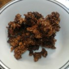 Simply Chocolate Granola - This crunchy chocolate granola is versatile enough to used as a breakfast, a snack, or a topping for yogurt or ice cream.