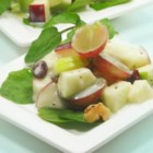 Waldorf Salad I -  This is a great recipe for this classic salad chock full of apples, walnuts, celery, and grapes. The mayonnaise dressing is perfect and a bit different, with apple juice, yogurt, and celery seeds mixed in.