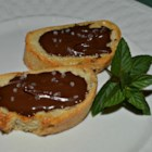Chocolate Sea Salt Crostini - This decadent chocolate sea salt crostini is an elegant hors d'oeuvre.