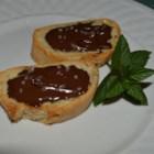 Chocolate Sea Salt Crostini - This decadent chocolate sea salt crostini is an elegant hors d'oeuvre.