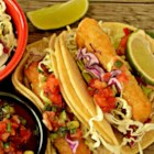 Wonderful Fried Fish Tacos - Beer battered, fried fish tacos served with all the fixings. The fish of choice is cod, but haddock is also a good bet.