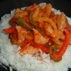Pork and Pepper Stew - Colorful bell peppers and spicy jalapenos make this pork dish a tasty, attractive favorite. Serve it over rice!