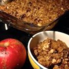 Oatmeal Cookie Apple Crisp - The crunchy, chewy components of an oatmeal cookie combine with buttery apple slices in this tasty oatmeal cookie apple crisp recipe.