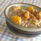 Peachy Oatmeal - Bring the taste of peach crisp to your morning bowl of cereal by microwaving oats and peaches in a mixture of milk and water.