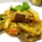 Baingan Bharta (Eggplant Curry) - Enjoy this spicy Indian eggplant curry dish over rice or with Indian bread (or both).