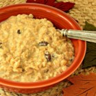 Bowl of Oatmeal Cookie - When oats, milk, raisins, cinnamon, and vanilla are microwaved together, you end up with a bowl of oatmeal that tastes like an oatmeal cookie.