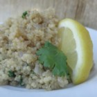 Quinoa and Spinach Pilaf - Quinoa and spinach pilaf is a quick and easy, gluten-free side dish for Thanksgiving or any dinner gathering.