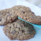 Giant Oatmeal Chocolate Cookies - These giant oatmeal chocolate cookies with semisweet and white chocolate chips are a huge hit wherever they are served.