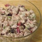 Festive Fall Turkey Salad - Enjoy holiday flavors even after the big feast is over by preparing a classic turkey salad made with mayonnaise, chopped celery, toasted cashews, sage, thyme, and orange accented cranberries. Serve the salad as an appetizer, lunch dish, or enjoy it on rolls, in wraps, or as a spread for crackers.