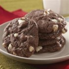 Double Fudge Brownie Cookies - These decadent cookies start with a brownie mix!