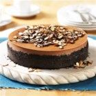 Mocha-Almond Cheesecake - Chocolate, coffee and almond, oh my! This cheesecake recipe is a sure winner. Creamy chocolate cheesecake with coffee and almonds, a perfect combo!