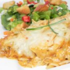 Queen Ranch Chicken - A tasty, stepped-up alternative to the famous stand-by, King Ranch Chicken. This dish stands out by using roasted poblano and jalapeno peppers. You also won't find any tomatoes in here. But trust me--you won't miss them!
