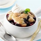 Fruit Cobbler from Mott's(R) - Full of peaches, pears, blueberries and applesauce, this cobbler bakes up warm and bubbly! It's a comfort food you can feel good about serving your family and friends!