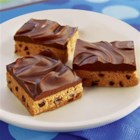 No-Bake Chocolate Peanut Butter Bars - Just beat, melt, stir, and refrigerate...these bars are that simple.