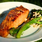 Sweet Glazed Salmon - Marinate your salmon fillets in a mixture of soy sauce, brown sugar, honey, and red pepper flakes for a tasty glazed main course.