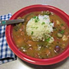 Good New Orleans Creole Gumbo - With a slow cooked roux and gumbo file powder flavoring the shrimp, crabmeat, and andouille sausage, this gumbo is an authentic creole meal.