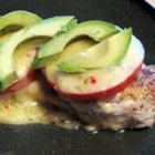 California Chicken - Sauteed chicken topped with tomato, Monterey jack, and a crowning glory of silky avocado slices.
