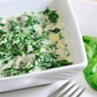 Cheesy Creamed Spinach - This is a recipe for a delicious and cheesy creamed spinach.  It's easy and tastes much better than any store bought or frozen versions.  I made it for Thanksgiving and it was great!